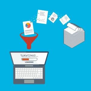 processos sem papel, extração e validação de dados