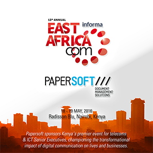 Papersoft will be a speaker and exhibitor at East AfricaCom