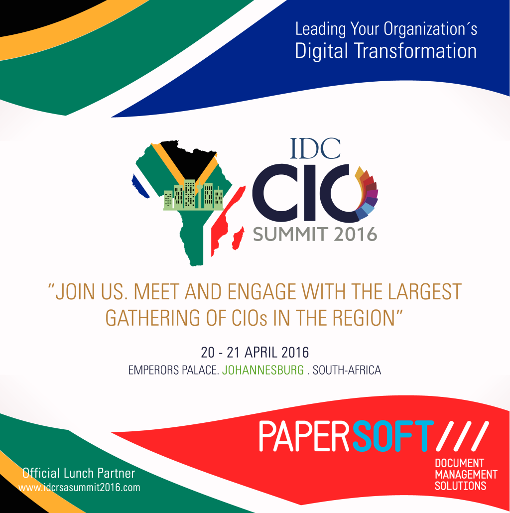 Papersoft sponsors IDC South Africa CIO Summit
