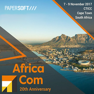 Papersoft in the exhibition area of AfricaCom - visit us at booth #316803