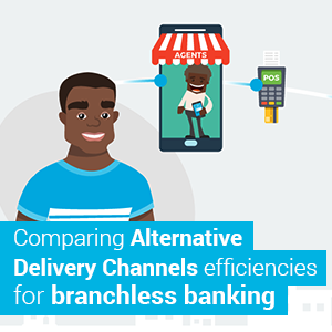 Comparing Alternative Delivery Channels efficiencies for branchless banking