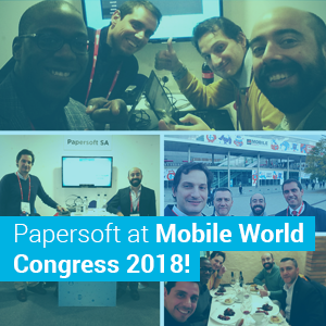 Papersoft at Mobile World Congress 2018