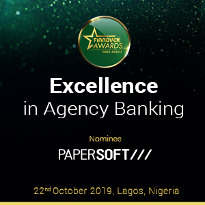Papersoft - Finnovex Awards 2019 - Excellence in Agency Banking